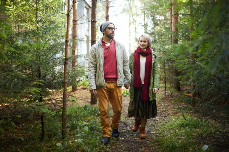 Romantic Walk In Woods