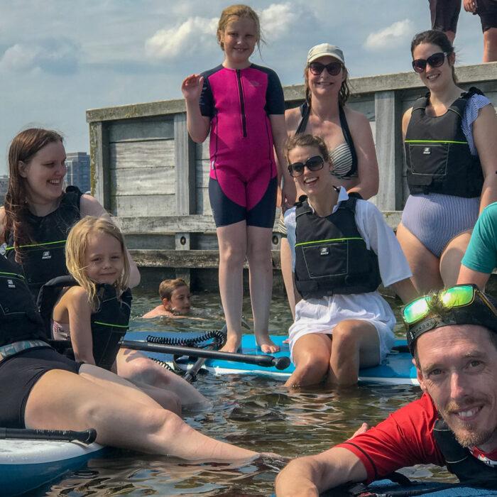 Sommerhygge og stand up paddleboarding