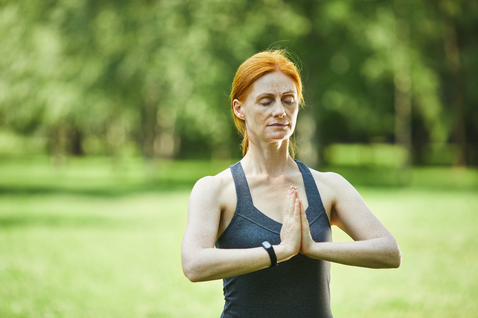 Focused on meditation