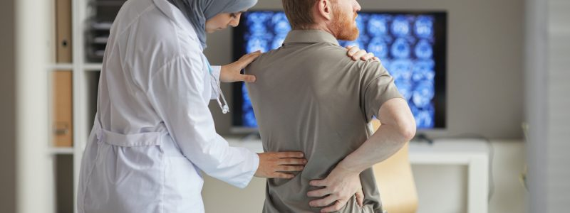 Patient complaining of back pain